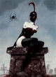 Gerald Brom Miss Muffet Signed Limited Edition Print #307/1000 (Brom, c. 2004)