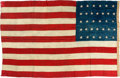 Antiques:Decorative Americana, U.S. Flag: 32-Star Flag....
