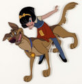 Animation Art:Production Cel, All Dogs Go to Heaven Charlie and Ann Marie Production CelSetup (Don Bluth, 1989)....