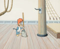 Animation Art:Production Cel, Woody Woodpecker Production Cel with Background (WalterLantz, 1960s-70s). ...