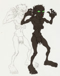 Animation Art:Production Cel, Lord of the Rings Gollum Production Cel and MatchingAnimation Drawing (United Artists/Ralph Bakshi, 1978).. ... (Total:3 Original Art)