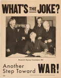 Political:Posters & Broadsides (1896-present), Wendell Willkie: Anti-War Campaign Poster....
