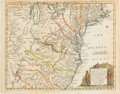Miscellaneous:Maps, Colonial America: 1754 Hand-Colored Map....