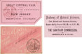 Miscellaneous:Ephemera, [Abraham Lincoln/ Civil War]: Great Central Fair Tickets....(Total: 3 Items)
