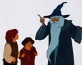 Animation Art:Production Cel, Lord of the Rings Gandalf, Frodo, and Samwise Production CelSetup (United Artists/Ralph Bakshi, 1978).. ... (Total: 2 OriginalArt)