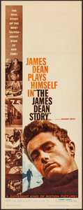 "Movie Posters:Documentary, The James Dean Story (Warner Brothers, 1957). Insert (14"" X 36""). Documentary.. ..."