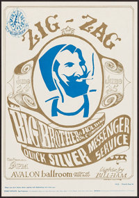 """Big Brother & the Holding Company at the Avalon Ballroom (Family Dog, 1966). Concert Poster #14(3) (14"""" X 2..."""