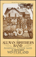 "Movie Posters:Rock and Roll, The Allman Brothers Band at Winterland (Bill Graham, 1973). ConcertPoster (13.75"" X 22""). Rock and Roll.. ..."