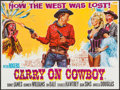 "Movie Posters:Comedy, Carry On Cowboy (Anglo Amalgamated, 1966). British Quad (30"" X 40""). Comedy.. ..."