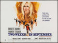 """Movie Posters:Foreign, Two Weeks in September (Rank, 1967). British Quad (30"""" X 40""""). Foreign.. ..."""