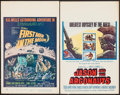 "Movie Posters:Science Fiction, First Men in the Moon & Others Lot (Columbia, 1964). WindowCards (2) (14"" X 22""). Science Fiction.. ... (Total: 2 Items)"