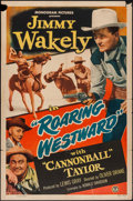 "Movie Posters:Western, Roaring Westward & Other Lot (Monogram, 1949). One Sheets (2) (27"" X 41""). Western.. ... (Total: 2 Items)"