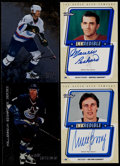 Hockey Cards:Lots, 1998-99 Hockey Certified Autograph Card Collection (4) With Messier& Richard....
