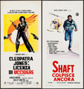 "Movie Posters:Blaxploitation, Cleopatra Jones & Other Lot (Warner Brothers, 1973). ItalianLocandina (13"" X 27.5""). Blaxploitation.. ... (Total: 2 Items)"