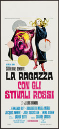"Movie Posters:Foreign, The Lady with Red Boots (Maxi Cinematografica, 1974). Italian Locandina (12.25"" X 27""). Foreign.. ..."