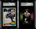 Hockey Cards:Lots, 1980 O-Pee-Chee & 1994 Leaf Limited Hockey Wayne Gretzky SGCGraded Pair (2)....