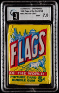 "Non-Sport Cards:Unopened Packs/Display Boxes, 1956 Topps ""Flags of the World"" 5-Cent Wax pack GAI NM+ 7.5. ..."