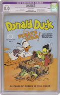 Golden Age (1938-1955):Cartoon Character, Four Color #9 Donald Duck (Dell, 1942) CGC Apparent VF 8.0 Moderate (P) Off-white pages....
