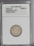 Early Dimes: , 1805 10C 5 Berries --Scratched--ANACS. VG8 Details JR-1. PCGSPopulation (1/7). (#4478)...