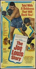 "Movie Posters:Sports, The Joe Louis Story (United Artists, 1953). Three Sheet (41"" X 79.75""). Sports. ..."