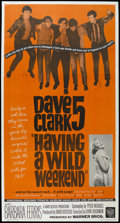 "Movie Posters:Rock and Roll, Having A Wild Weekend (Warner Brothers, 1965). Three Sheet (41.5"" X78.5""). Rock and Roll. ..."
