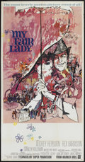 """Movie Posters:Musical, My Fair Lady (Warner Brothers, 1964). Three Sheet (41"""" X 81""""). Musical. ..."""