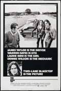 "Movie Posters:Cult Classic, Two-Lane Blacktop (Universal, 1971). Poster (40"" X 60""). CultClassic. ..."