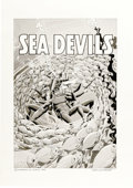 Original Comic Art:Covers, Russ Heath - Sea Devils #4 Cover Recreation Original Art (1995)....