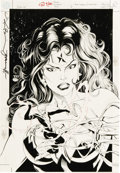 Original Comic Art:Covers, Tom Grummett and Michael Bair - Power Company: Witchfire #1 CoverOriginal Art (DC, 2002). ...