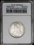 Bust Quarters: , 1825/4/3 25C --Cleaned, Scratched--ANACS. XF45 Details. B-2. NGC Census: (10/74). PCGS Population (15/114).Mintage: 144,000...