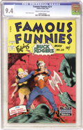 Golden Age (1938-1955):Science Fiction, Famous Funnies #211 (Eastern Color, 1954) CGC NM 9.4 Cream tooff-white pages....