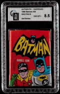 Non-Sport Cards:Unopened Packs/Display Boxes, 1966 Topps Batman 2nd Series 5-Cent Wax pack GAI NM-MT+ 8.5. ...