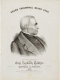 Political:Small Paper (pre-1896), Zachary Taylor: Pictorial Sheet Music with Bonus. ...