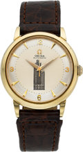 Timepieces:Wristwatch, Omega Automatic Gold Filled Vintage 30 Year Chicago Tribune WorkAnniversary Watch. ...