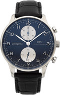 Timepieces:Wristwatch, IWC Portuguese Automatic Chronograph Wristwatch. ...