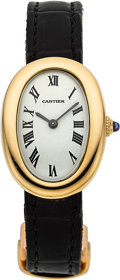Timepieces:Wristwatch, Cartier 18k Gold Lady's Baignoire. ...