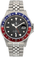 Timepieces:Wristwatch, Rolex Steel Ref. 16700 GMT-Master, circa 1987. ...
