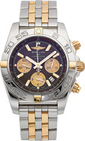 Timepieces:Wristwatch, Breitling Chronomat Stainless Steel & Rose Gold Chronograph Wristwatch . ...