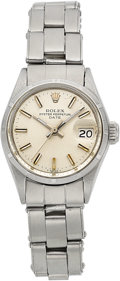 Timepieces:Wristwatch, Rolex Lady's Steel Oyster Perpetual Date, circa 1969. ...