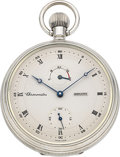 Timepieces:Pocket (post 1900), Zenith Chronométre Cal. 5011K Sterling Silver Pocket Watch # 184....