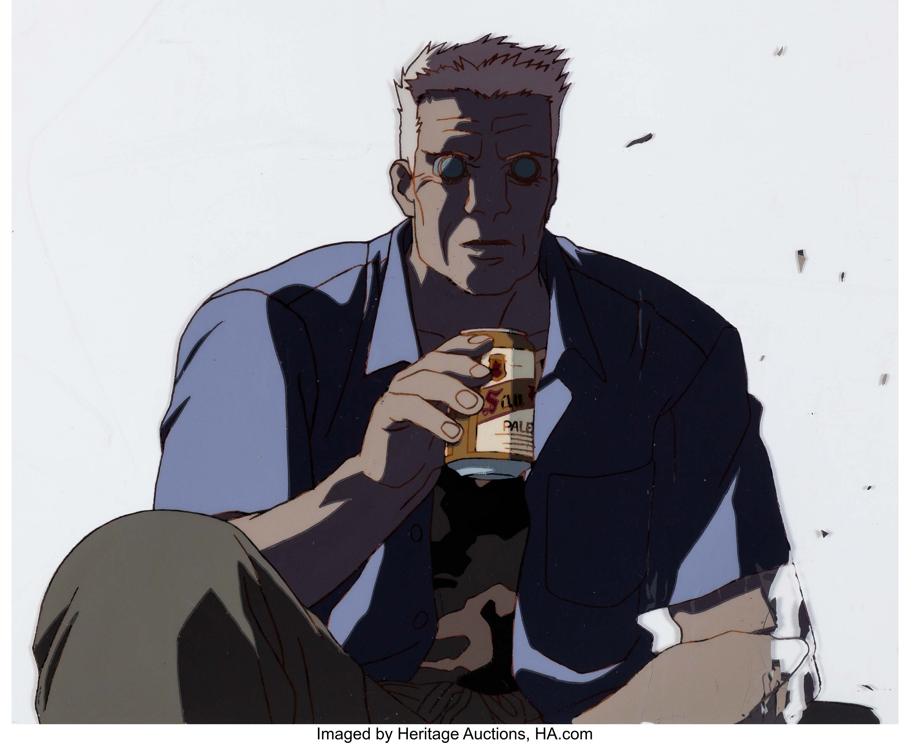 Ghost In The Shell Batou Anime Production Cel And Matching Lot 13111 Heritage Auctions