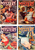 Pulps:Detective, Thrilling Mystery Group of 8 (Standard, 1936-40) Condition: AverageGD.... (Total: 8 Comic Books)
