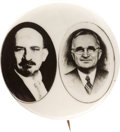Political:Pinback Buttons (1896-present), Truman & Weizmann: Recognition of State of Israel Jugate....