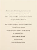 Political:Presidential Relics, John F. Kennedy and Jacqueline Bouvier: Wedding Invitation....