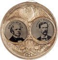 Political:Ferrotypes / Photo Badges (pre-1896), Seymour & Blair: Large Porthole Ferrotype Jugate....
