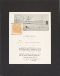 Wright Brothers Kitty Hawk Plane Relic