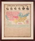 Political:Posters & Broadsides (pre-1896), Buchanan, Frémont and Fillmore: 1856 Campaign Chart....