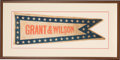 Political:Textile Display (pre-1896), Ulysses S. Grant: 1872 Parade Pennant or Banner....