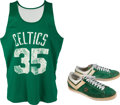 Basketball Collectibles:Uniforms, 1970's Paul Silas Practice Worn Boston Celtics Practice Uniform& Game Worn Seattle Supersonics Sneakers....