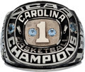 Basketball Collectibles:Others, 1982 Michael Jordan University of North Carolina TarheelsSalesman's Sample Ring....